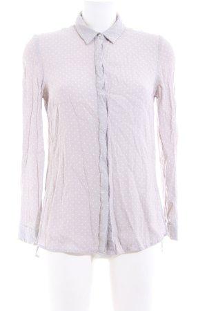 New Look Hemd-Bluse blauviolett-weiß Punktemuster Casual-Look