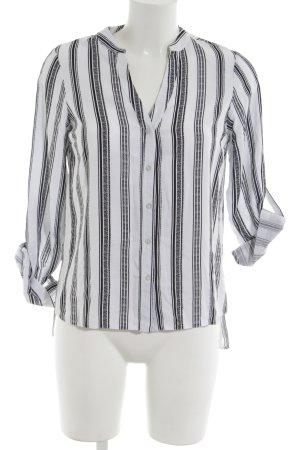 New Look Hemd-Bluse weiß-schwarz Streifenmuster Business-Look