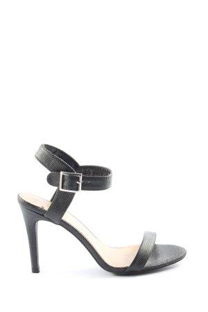New Look High Heel Sandaletten schwarz Animalmuster Casual-Look
