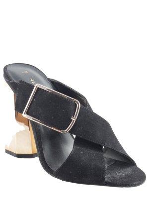 New Look High Heel Sandaletten schwarz-roségoldfarben extravaganter Stil
