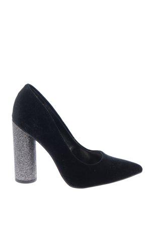 New Look High Heels schwarz-silberfarben Casual-Look