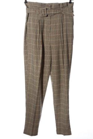 New Look Spodnie z wysokim stanem Wzór w kratkę W stylu casual