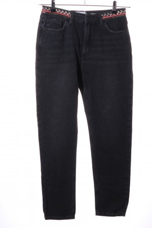New Look Hoge taille jeans zwart casual uitstraling