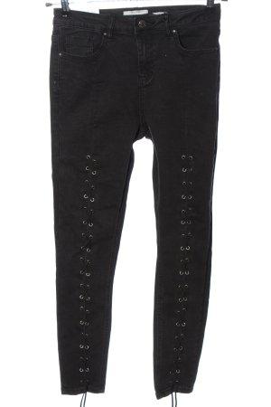 New Look High Waist Jeans schwarz Casual-Look