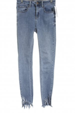New Look Hoge taille jeans azuur gestippeld straat-mode uitstraling