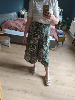 New Look Pantalone culotte bianco-verde bosco