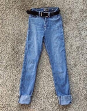 New Look Vaquero pitillo azul claro-azul neón
