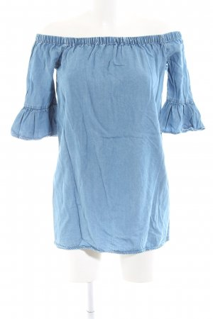 New Look Jeansbluse blau Casual-Look