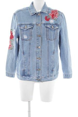 New Look Jeansjacke himmelblau Blumenmuster Casual-Look
