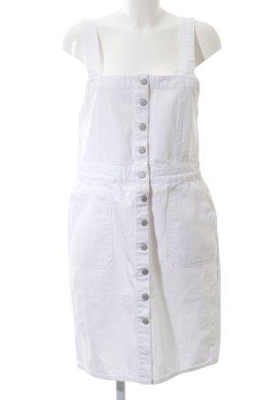 New Look Jeanskleid weiß-silberfarben Jeans-Optik