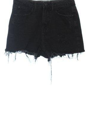 New Look Jeansshorts schwarz Casual-Look