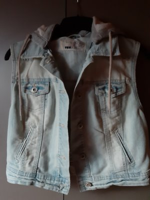 New Look Jeansweste mit Kapuze