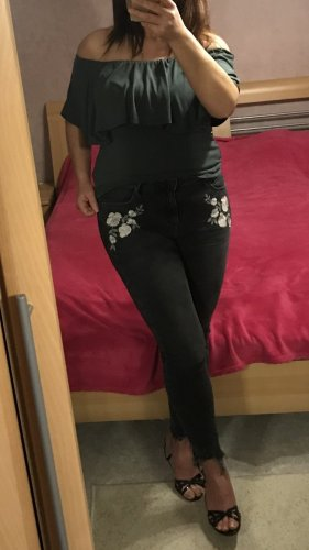 New Look Jenna Skinny highwaist Jeans Blumen Stickerei Gr.40 top