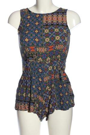 New Look Jumpsuit blau-hellorange Allover-Druck Casual-Look