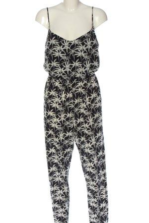 New Look Jumpsuit schwarz-weiß Allover-Druck Casual-Look