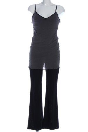 New Look Jumpsuit hellgrau-schwarz Casual-Look