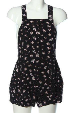New Look Jumpsuit schwarz-pink Allover-Druck Casual-Look