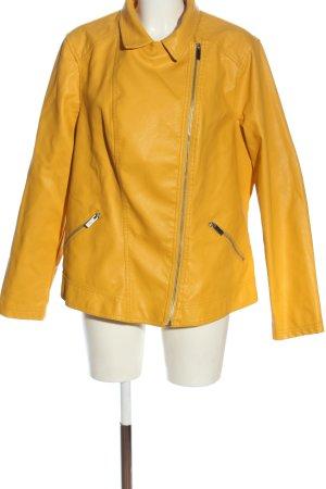 New Look Veste en cuir synthétique jaune primevère style décontracté