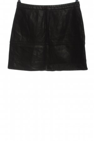 New Look Falda de cuero de imitación negro look casual