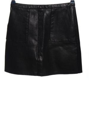 New Look Jupe en cuir synthétique noir style décontracté
