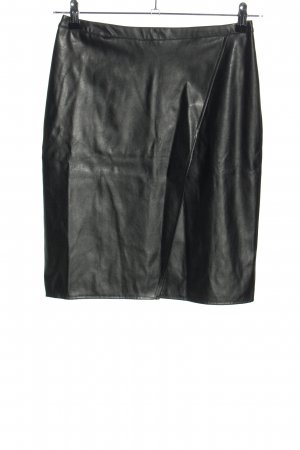 New Look Kunstlederrock schwarz Glanz-Optik
