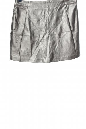 New Look Faux Leather Skirt silver-colored casual look