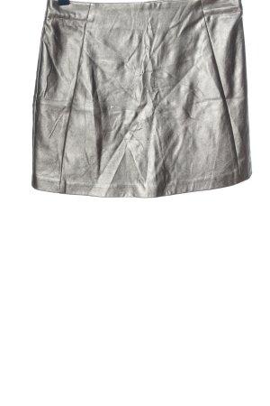 New Look Rok van imitatieleder zilver casual uitstraling