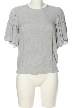 New Look Kurzarm-Bluse hellgrau meliert Business-Look