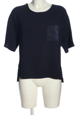 New Look Kurzarm-Bluse blau Casual-Look