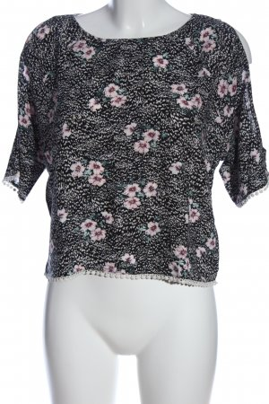 New Look Kurzarm-Bluse Allover-Druck Casual-Look