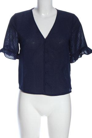 New Look Kurzarm-Bluse blau Business-Look
