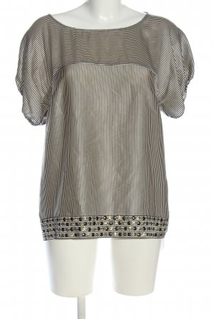 New Look Kurzarm-Bluse Streifenmuster Casual-Look