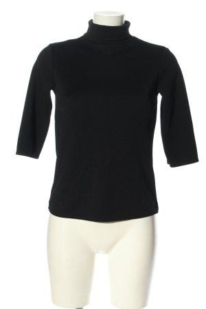 New Look Kurzarm-Bluse schwarz schlichter Stil