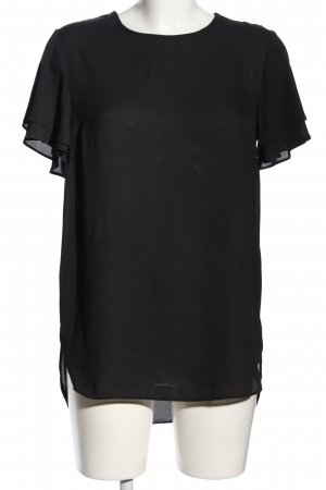 New Look Kurzarm-Bluse schwarz Business-Look