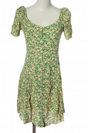 New Look Kurzarmkleid wollweiß-grün Allover-Druck Elegant