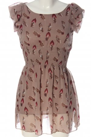 New Look Kurzarmkleid pink Allover-Druck Elegant