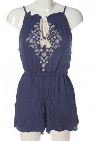 New Look Kurzer Jumpsuit blue-white casual look