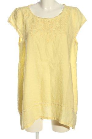 New Look Langarm-Bluse blassgelb Business-Look