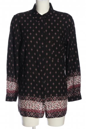 New Look Langarm-Bluse abstraktes Muster Casual-Look