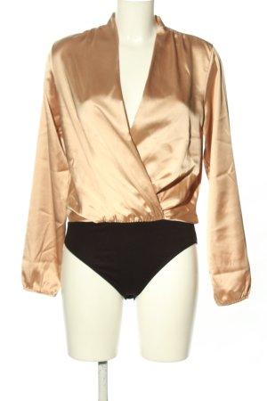 New Look Langarm-Bluse goldfarben-schwarz Casual-Look