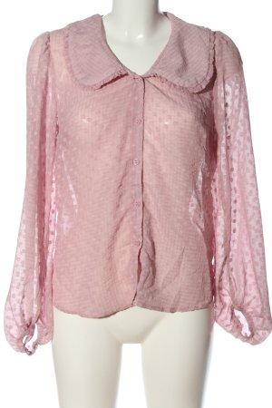 New Look Blusa de manga larga rosa look casual