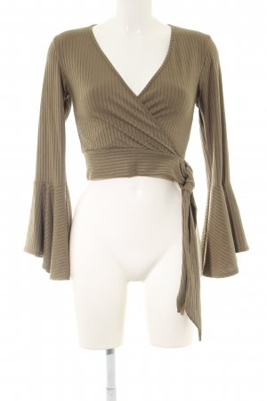New Look Langarm-Bluse khaki Streifenmuster Casual-Look