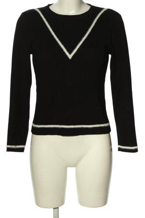 New Look Longsleeve schwarz-weiß Streifenmuster Casual-Look