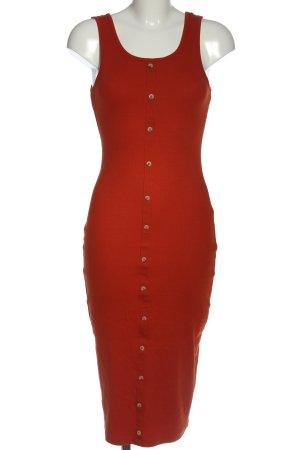 New Look Vestido a media pierna rojo look casual