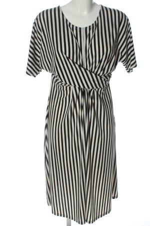 New Look Sukienka midi czarny-w kolorze białej wełny Wzór w paski
