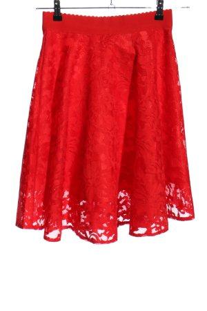 New Look Falda de encaje rojo estampado floral elegante