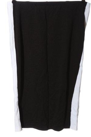 New Look Spódnica midi czarny-biały W stylu casual