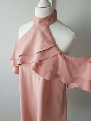 New Look Robe épaules nues or rose