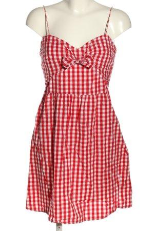 New Look Minikleid rot-weiß Karomuster Casual-Look