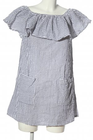 New Look Minikleid weiß-blau Streifenmuster Casual-Look